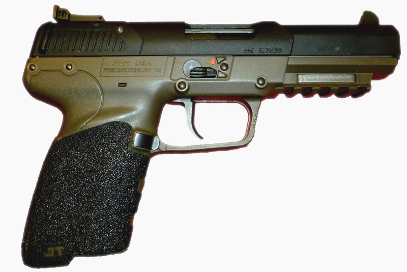 FN Five Seven Grips - Adhesive Black